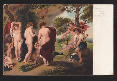 c1907 Rotograph art by Rubens the Judgment of Paris risque nude postcard