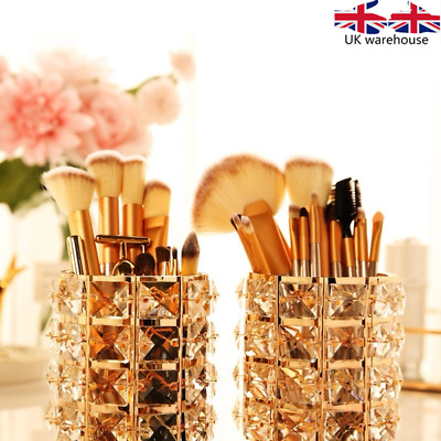 Crystal Beads Makeup Brush Holder Pen Pencil Holder Storage Organizer Container