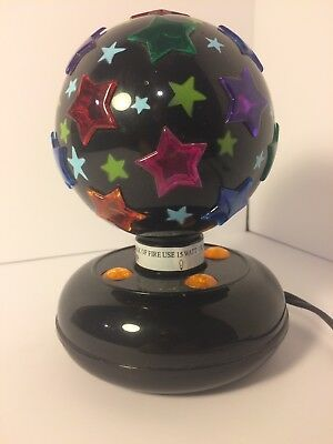 BLACK ROTATING DISCO LIGHT, with off/on switch, works great! Night Light!
