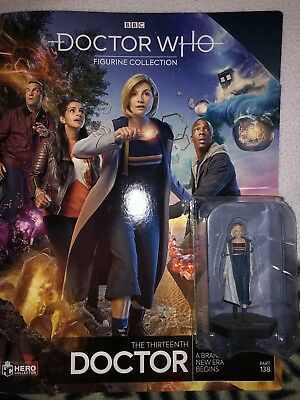 Eaglemoss Doctor Who 13th doctor Figurine And Special Edition Cover Magazine