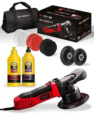 BURISCH HDR2500 DA Polisher + Farecla G3 Premium polish wax kit + bag + pads
