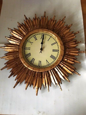 Clock Traditional Sunburst Clock