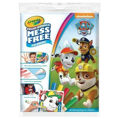 NEW Crayola Colour Wonder Mess Free Colouring Nickelodeon PAW Patrol Kids Gift!