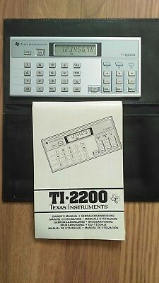 Texas Instruments Ti-2200. Vintage Electronic Calculator.