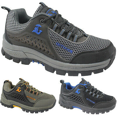 Mens Hiking Rambling Outdoor Trainers Comfort Walking Trekking Trail Boots Shoes