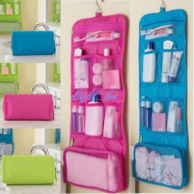 Foldable Cosmetic Bag Travel Wash Toiletry Organizer Hanging Bag Makeup Pouch TO
