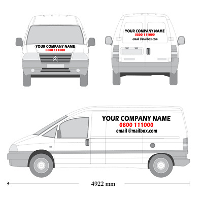 fiat ducato swb 14 van sign writing sticker kit installation kit included