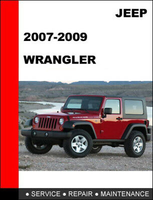 4x4 JEEP WRANGLER 7000 pages JK 2007-2009 COMPLETE SERVICE WORKSHOP MANUAL ebook