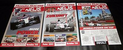 3 orig. Honda Racing Magazine im Set! Einmalige Gelegenheit. Deutsch, mega rar!