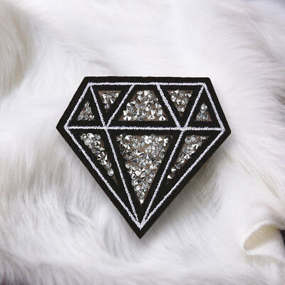 Diamond Embroidery Sew On Iron On Patch Badge Applique Craft Sticker Transfer