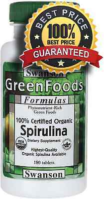 100% Certified Organic Spirulina x 180 Tablets detox, diet, weight loss, cleanse