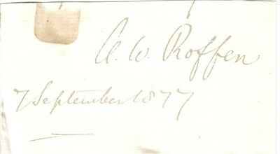 Anthony Wilson Thorold - 19th c Bishop of Rochester, Bishop of Winchester - sig