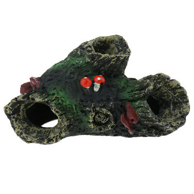 Vivarium Reptile Decoration Aquarium Fish Tank Ornament Lizard Hide Cave