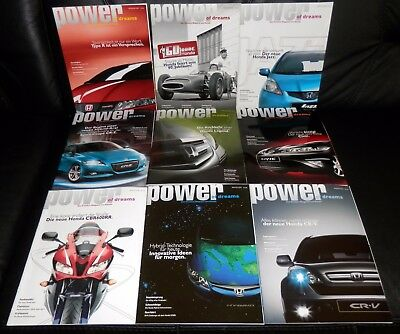 "9 orig. Honda ""power of dreams"" Kunden Magazine im Set! Mega rar! (Set 2)"