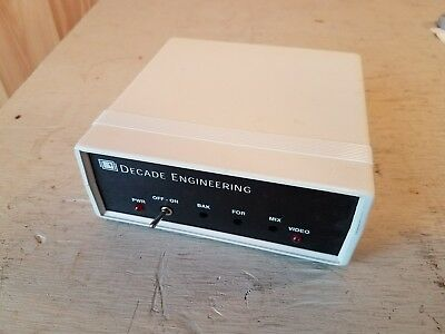 Decade Engineering XBOB-4 Video Information Overlay Generator - Used Untested