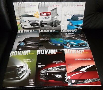 "9 orig. Honda ""power of dreams"" Kunden Magazine im Set! Mega rar! (Set 1)"