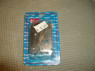 "Nos Mac Pair 4"" Strap Hinge 55068 Stainless Steel 2 Hole 1"" Wide Be2"