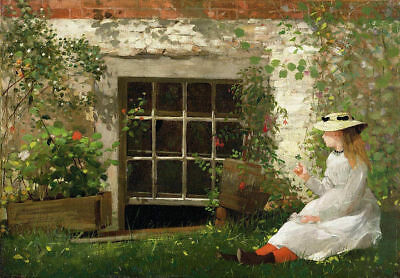 LMOP404 hand painted white long dress girl in the hat art oil painting on canvas