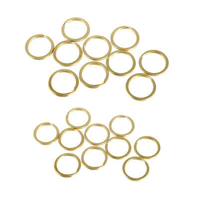 20pcs Mixed Size 25/30mm Split Rings For Key Ring Key Chain Jewelry Making
