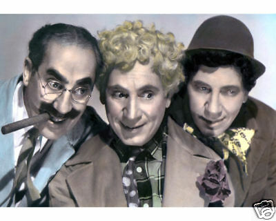 """THE MARX BROTHERS A NIGHT IN CASABLANCA 1946 8x10"""" HAND COLOR TINTED PHOTOGRAPH"""