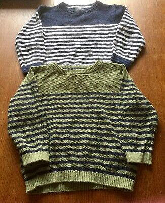2 x BABY BOYS  STRIPED JUMPERS FROM NEXT, Sz 12-18 months