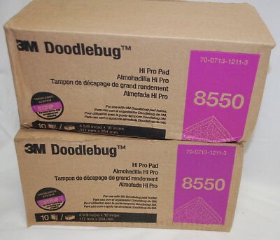 2 Boxes = 20 Total 3M Doodlebug High Productivity Black Stripping Pads [S8763]