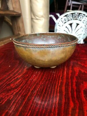 Antique Dryad Style Lester Arts & Crafts Copper Bowl