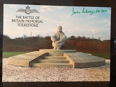Ww2 Raf Battle Of Britain Signed Flt Lt John Gibson 501 Squadron  Certified 1940