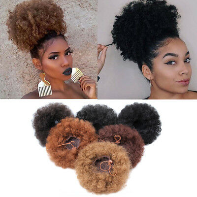 kinky curly null null cheveux extension queue de cheval cordon afro - bun null