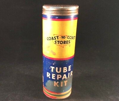 Vintage COAST TO COAST STORES TIRE TUBE REPAIR KIT Rare Old Advertising Patch