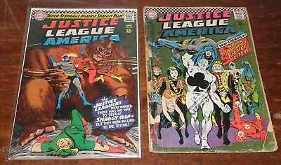 Justice League Of America Vol 1 #45 (Fn) + #54 (Gd) / Dc Comics Silver Age