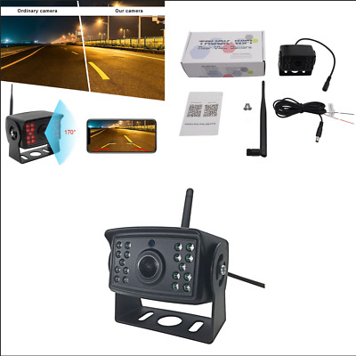 Car WiFi Rear View Backup Camera Video Recording Iphone Android Devices Monitor