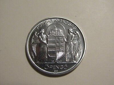 Hungary 1943 5 Pengo Proof Coin