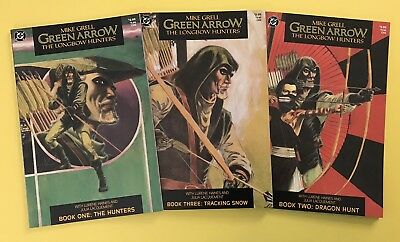 Green Arrow The Longbow Hunters #1-3 VF  (Complete 1987 DC Series) Mike Grell