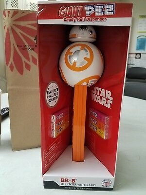 Star Wars BB-8 GIANT PEZ Candy Roll Dispenser With Sound Batteries Included USA