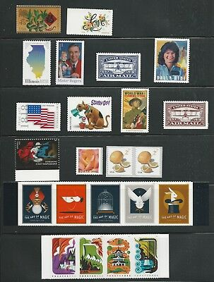 2018 US Complete Stamp Set Mint NH as the scans show with all the stamps issued