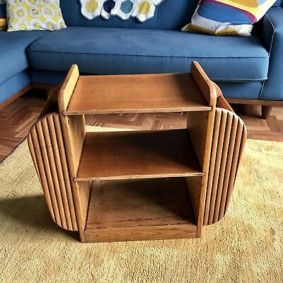 Vintage Bookcase, Occasional Table, Magazine Ends,1930's/40's, Sanded & Stained