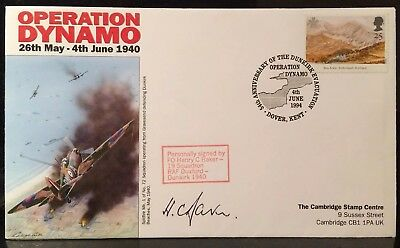 Ww2 Raf Battle Of Britain Signed Flying Officer Henry C Baker 19 Squadron 1940 +