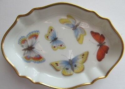 Limoges Giraud Butterfly Porcelain Dresser Tray With Gold Trim