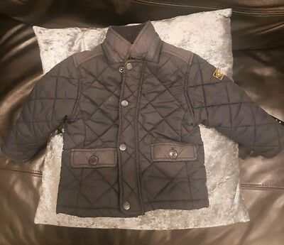 NEXT Navy Quilted Coat 12-18mths
