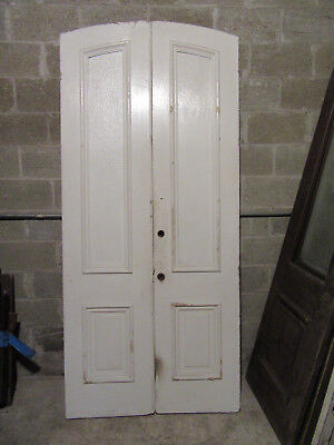 ~ ANTIQUE DOUBLE ENTRANCE FRENCH DOORS ~ 42.25 x 93 ~ ARCHITECTURAL SALVAGE