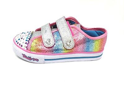 New! Girl's SKECHERS TWINKLE TOES: STEP UP - SPARKLE KICKS 10696 171R sm