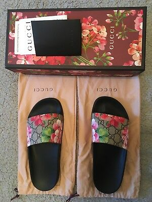 b48aa662d94c WOMENS GUCCI GG Blooms Floral Sliders Slides Sandals EU size 5 ...