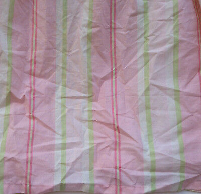 Amy Coe Limited Edition Pink Striped Cribskirt Cotton Candy Green Baby Red Label