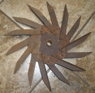 Antique Rotary Hoe/Cultivator Wheel Garden Art-unusual