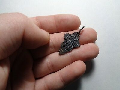 Russian empire old orthodox bronze female pendant cross 1800-1900 AD original 95