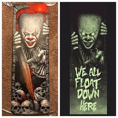 Stephen King It Pennywise Steven Holliday Movie Print Poster Mondo Horror Glows!