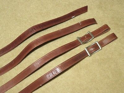 Supple & Lightweight FULLY STITCHED Brown Suede Lined Western Split-End Reins