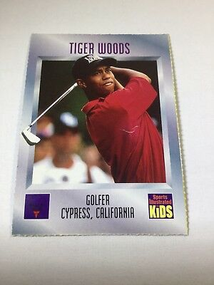 TIGER WOODS December 1996 Sports Illustrated for Kids ROOKIE CARD -  NOT GRADED