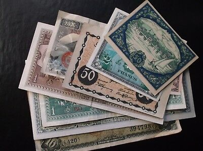 World Paper Money Currency Lot Japan Germany